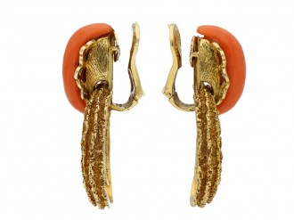 David Morris coral  diamond earrings berganza hatton garden