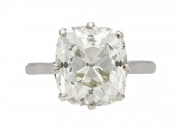 Solitaire cushion old mine diamond ring berganza hatton garden