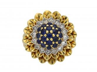 Tiffany & Co sapphire diamond cluster ring berganza hatton garden