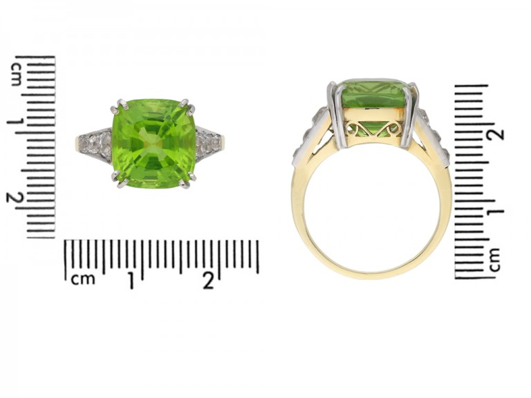 Peridot and diamond ring berganza hatton garden