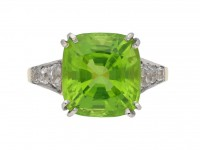 Peridot and diamond ring berganza hatton garden