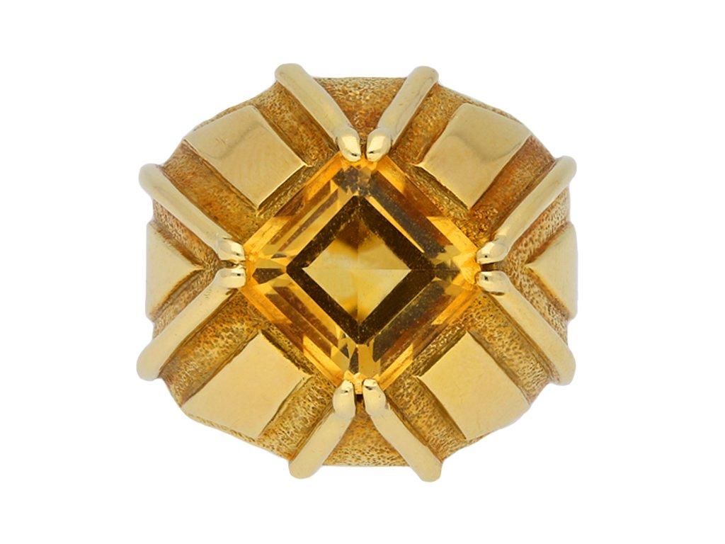 Schlumberger Tiffany & Co citrine ring berganza hatton garden