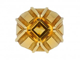 Schlumberger Tiffany & Co citrine ring berganza hatton garden