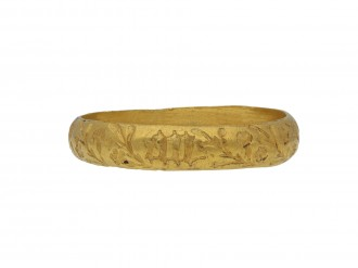 Gold Posy ring '+ en bon an'  berganza hatton garden