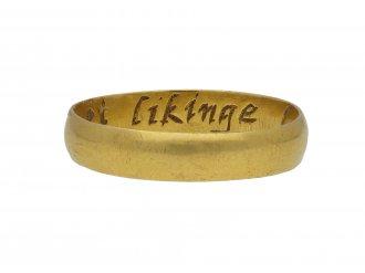 Posy ring 'Let likinge laste' berganza hatton garden