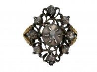 Antique rose cut diamond ring hatton garden berganza