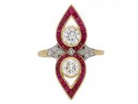 Belle Époque diamond ruby ring berganza hatton garden