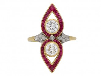 Belle Époque diamond ruby ring berganza hatton garden