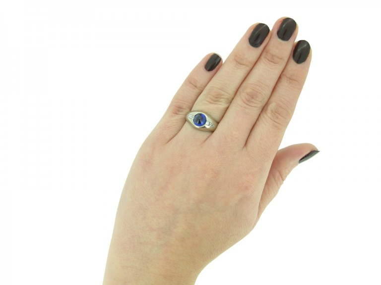 Bailey Banks Biddle sapphire diamond ring berganza hatton garden