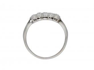 Edwardian three row diamond ring berganza hatton garden