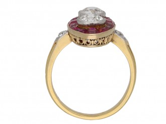 Antique marquise ruby and diamond ring berganza hatton garden