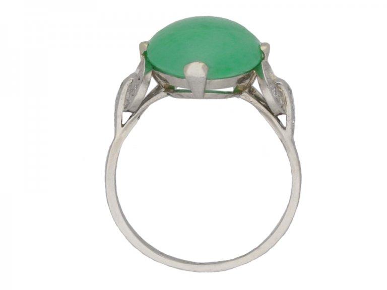 Jade and diamond ring berganza hatton garden