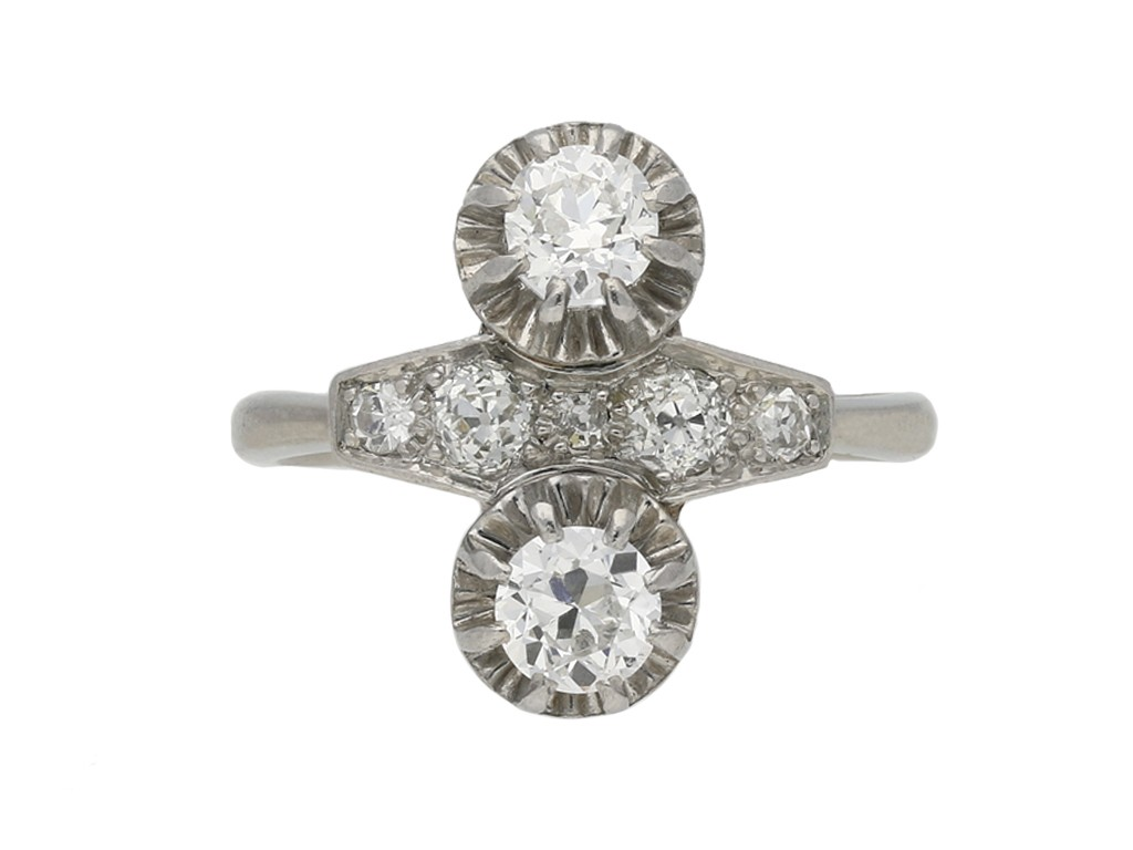 Two stone diamond ring, French berganza hatton garden