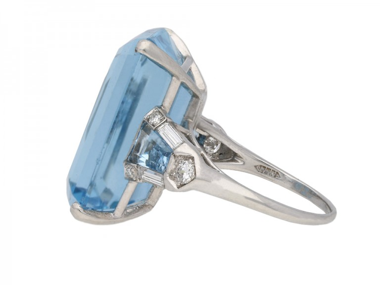 F & F Felger Inc. Art Deco aquamarine ring berganza hatton garden