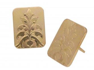 Gold dress buttons / cufflinks berganza hatton garden