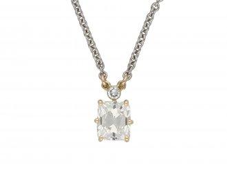 Edwardian old mine diamond pendant berganza hatton garden