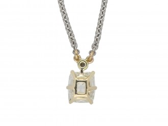 Edwardian old mine diamond pendant berganza hatton garden
