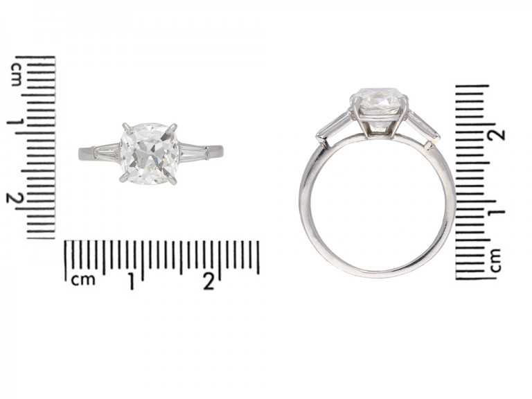 Cartier cushion shape old mine diamond ring berganza hatton garden
