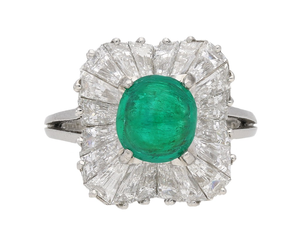 J. E. Caldwell emerald diamond ring berganza hatton garden