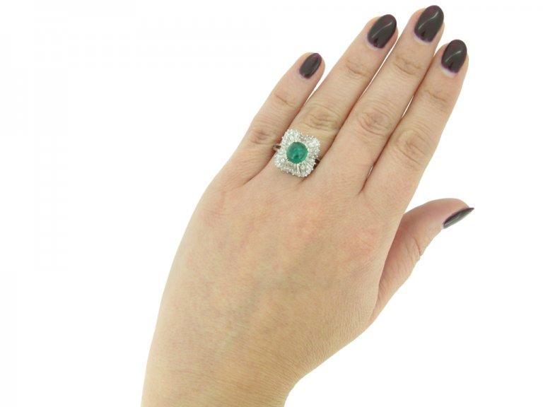 J. E. Caldwell emerald diamond ring berganza hatton garden