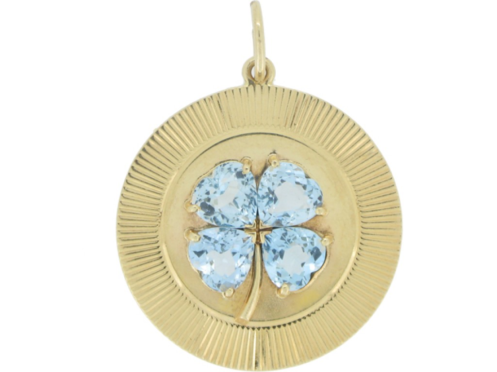 front view Tiffany & Co. aquamarine pendant, circa 1957.