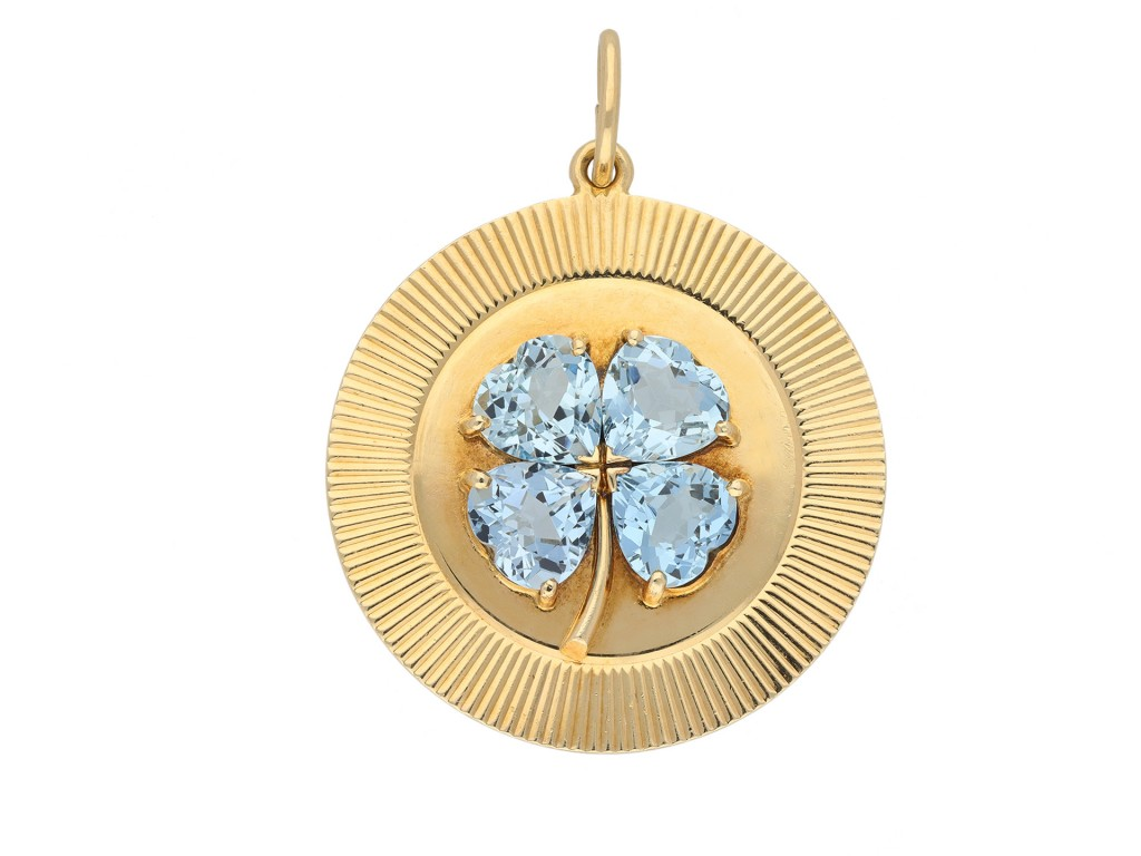Tiffany & Co. aquamarine pendant berganza hatton garden