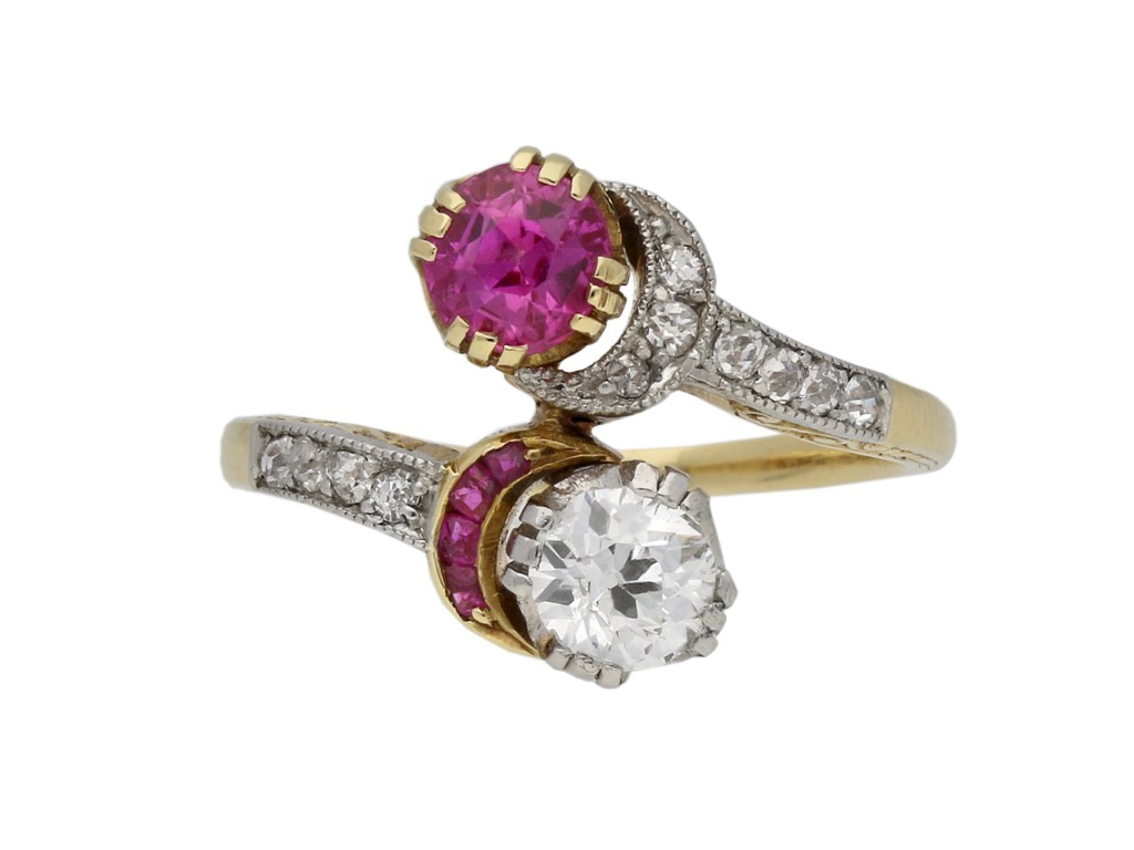 Burmese pink sapphire diamond ring berganza hatton garden