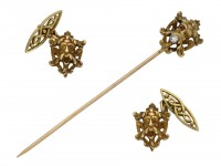 Antique cufflinks and stick pin berganza hatton garden