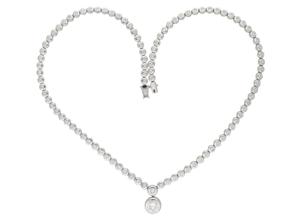 Diamond necklace, circa 1990 hatton garden