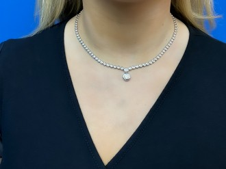 Diamond necklace, circa 1990 hatton garden