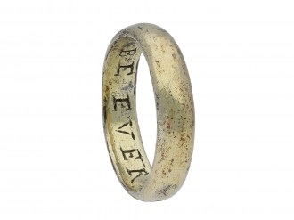 Gold posy ring BE EVER CONTENT Hatton garden