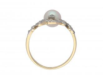Antique natural pearl and diamond ring berganza hatton garden