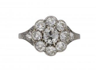 Antique diamond coronet cluster ring, berganza hatton garden