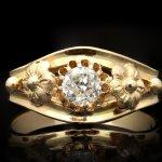 Victorian diamond solitaire ring, French, circa 1900.