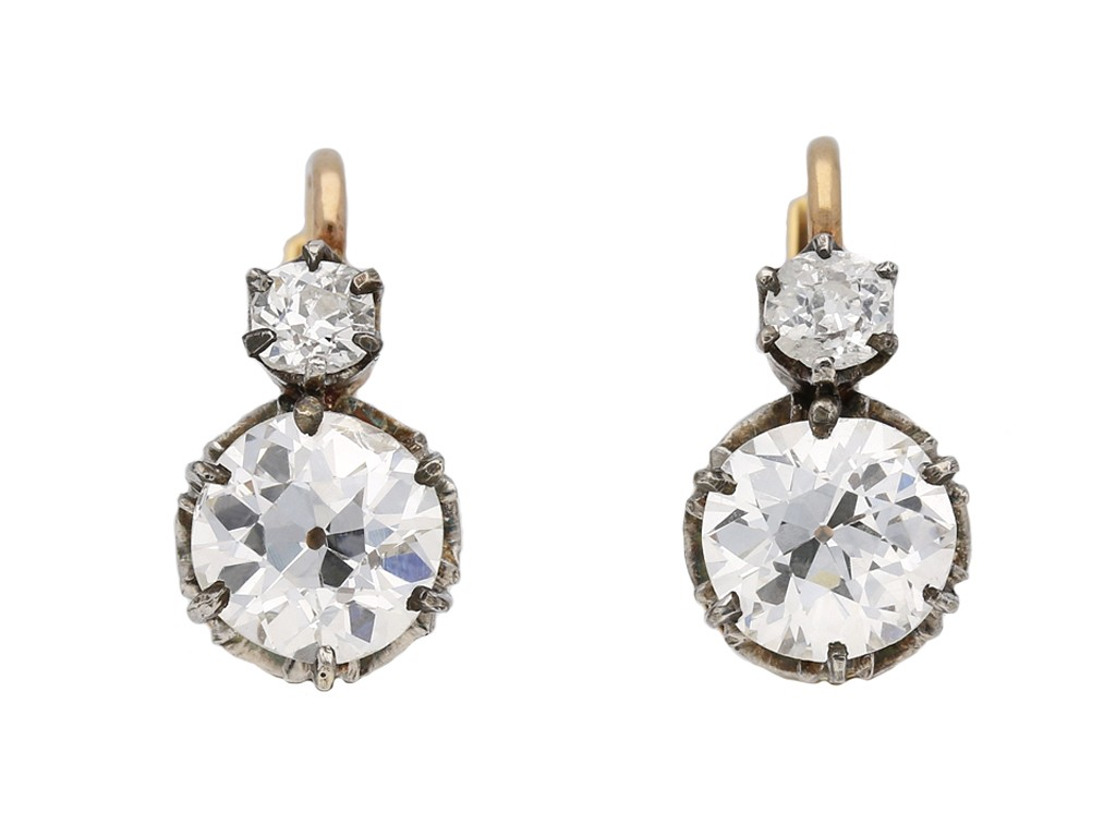 Diamond earrings, French berganza hatton garden
