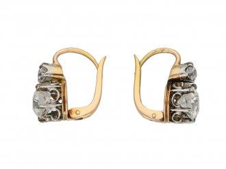 Diamond earrings, French berganza hatton garden