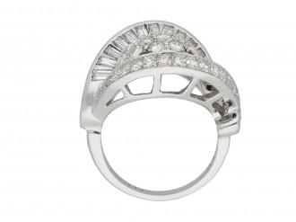 Diamond cocktail ring, circa 1950.