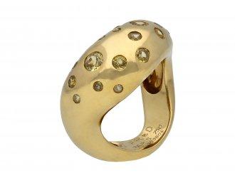 Fred of Paris yellow sapphire ring hatton garden berganza
