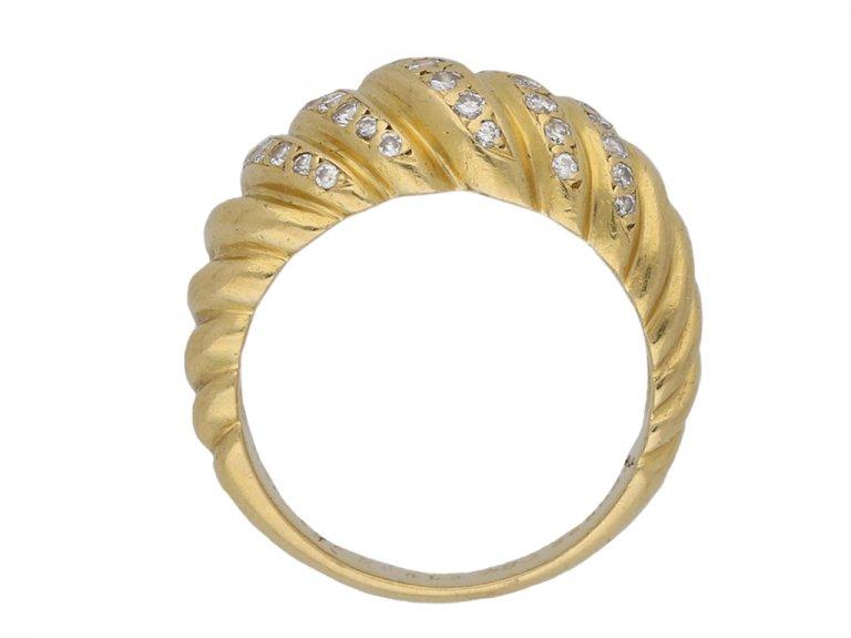 Cartier vintage diamond ring berganza hatton garden