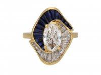 Oscar Heyman sapphire diamond ballerina ring berganza hatton garden