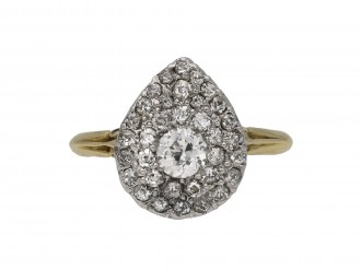 Antique diamond two row cluster ring berganza hatton garden