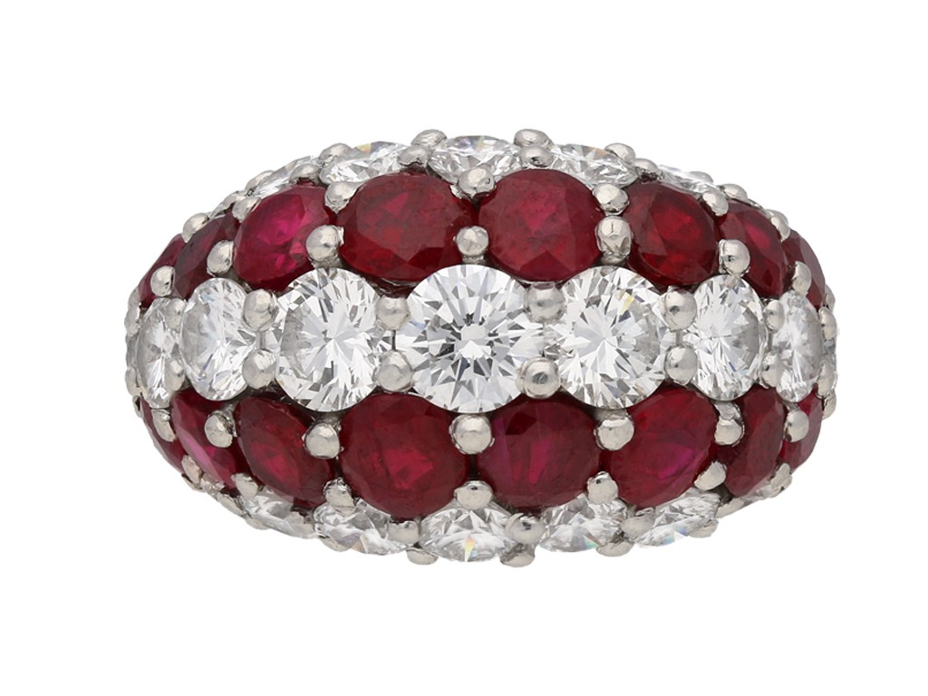 Cartier ruby and diamond ring berganza hatton garden