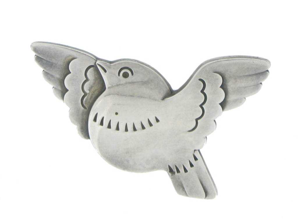 front view Georg Jensen bird brooch