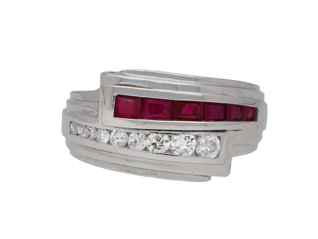 Bailey, Banks & Biddle ruby diamond ring berganza hatton garden