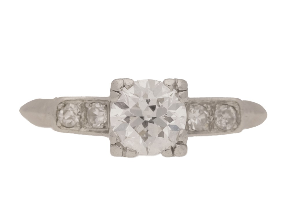 front view Diamond ring, American, circa 1935.