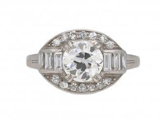 Old cut diamond cluster ring berganza hatton garden
