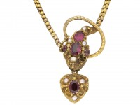 Antique garnet and pearl snake necklace berganza hatton garden