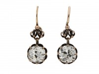 Antique old mine diamond earrings berganza hatton garden