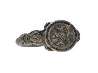 Silver seal matrix ring hatton garden