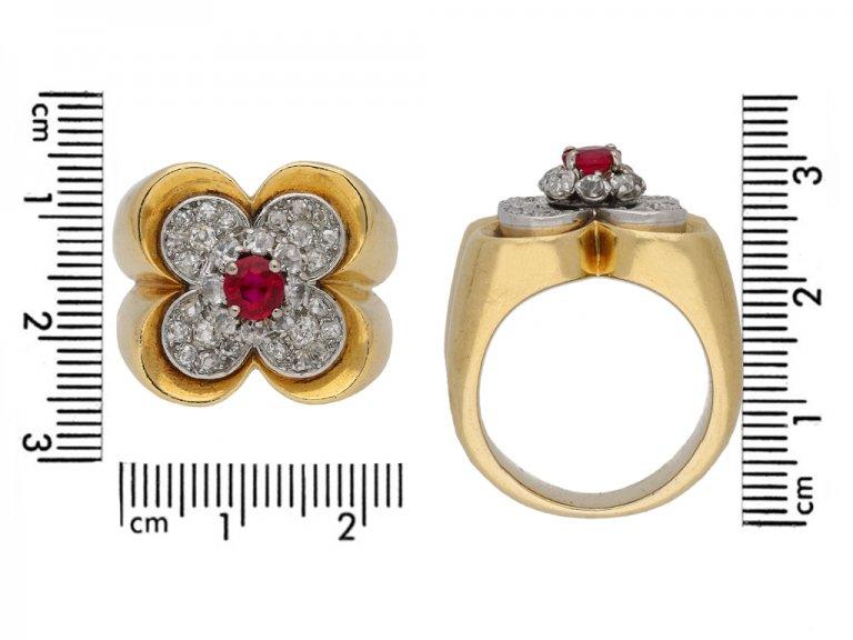 Van Cleef & Arpels ruby and diamond ring berganza hatton garden